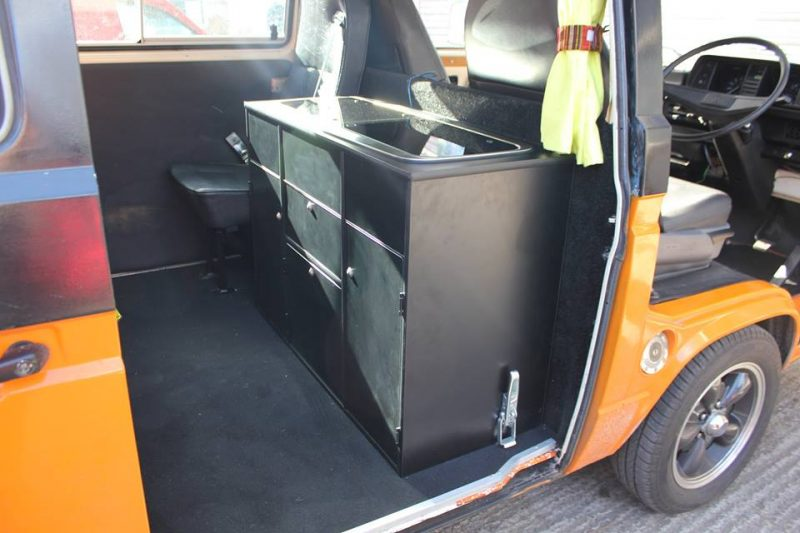 Custom Built Kitchen Pods for VW T4 T5 T6 and many other vehicles.